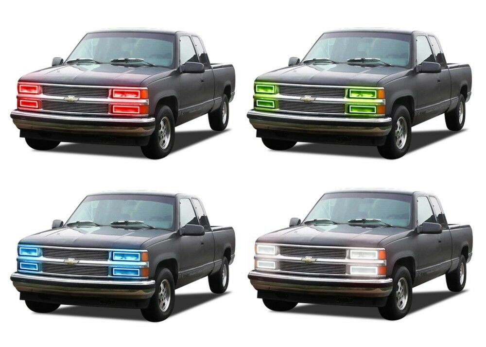 Primary image for for Chevrolet C1500 88-98 RGB Multi Color LED Halo kit for Headlights