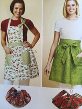 Kwik Sew Sewing Patterns 3772 Aprons & Casserole Carriers New - $16.47