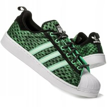 Adidas Superstar Glow in The Dark Green F37671 Mens Shoes Size 9 - $74.95