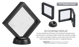 """3D Floating View Coin Display Frame Holder Box Case Small Black (1.5"""") -... - $8.89"""