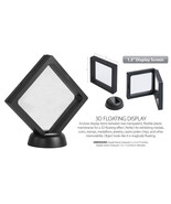 """3D Floating View Coin Display Frame Holder Box Case Small Black (1.5"""") - QTY 2 - $8.58"""