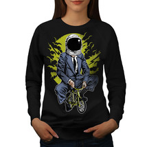 Businessman Bike Fashion Jumper  Women Sweatshirt - $18.99