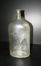 Vintage Bottle Owens Bottle Crackle Texture Pattern Old Bottle - $28.50