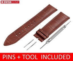For Rado Watch Brown Leather Strap Band Buckle 18 19 20 21 22mm - $12.18