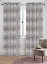 Urbanest 50-inch by 84-inch Set of 2 Jacquard Metro Drapery Curtain Panel, Natur - $28.70