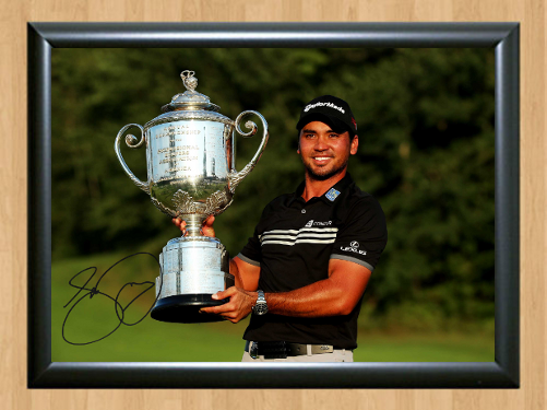 Jason Day Golf Masters Ryder Cup Open Signed Autographed A4 Photo Print club cap for sale  USA