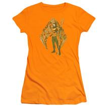 Authentic DC Comics Aquaman Movie Shell Logo symbol Ladies T-shirt Jr S M L X 2X - $25.99+