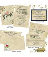 Beauty and the Beast Wedding invitation Set: RSVP, Reception, Envelope N... - $2.64