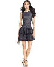 Jessica Simpson Navy Blue Lace Ruffled Drop Waist Dress Women's size 10 ... - £29.90 GBP