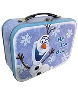 Walt Disney's Frozen Olaf Laughing Large Carry All Tin Tote Lunchbox, NE... - $20.08