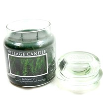 Village Candle Balsam Fir 2 Wick Glass Jar Container Scanted Fragrance D... - $26.75