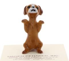 Hagen-Renaker Miniature Ceramic Dog Figurine Shelter Pup Begging image 2