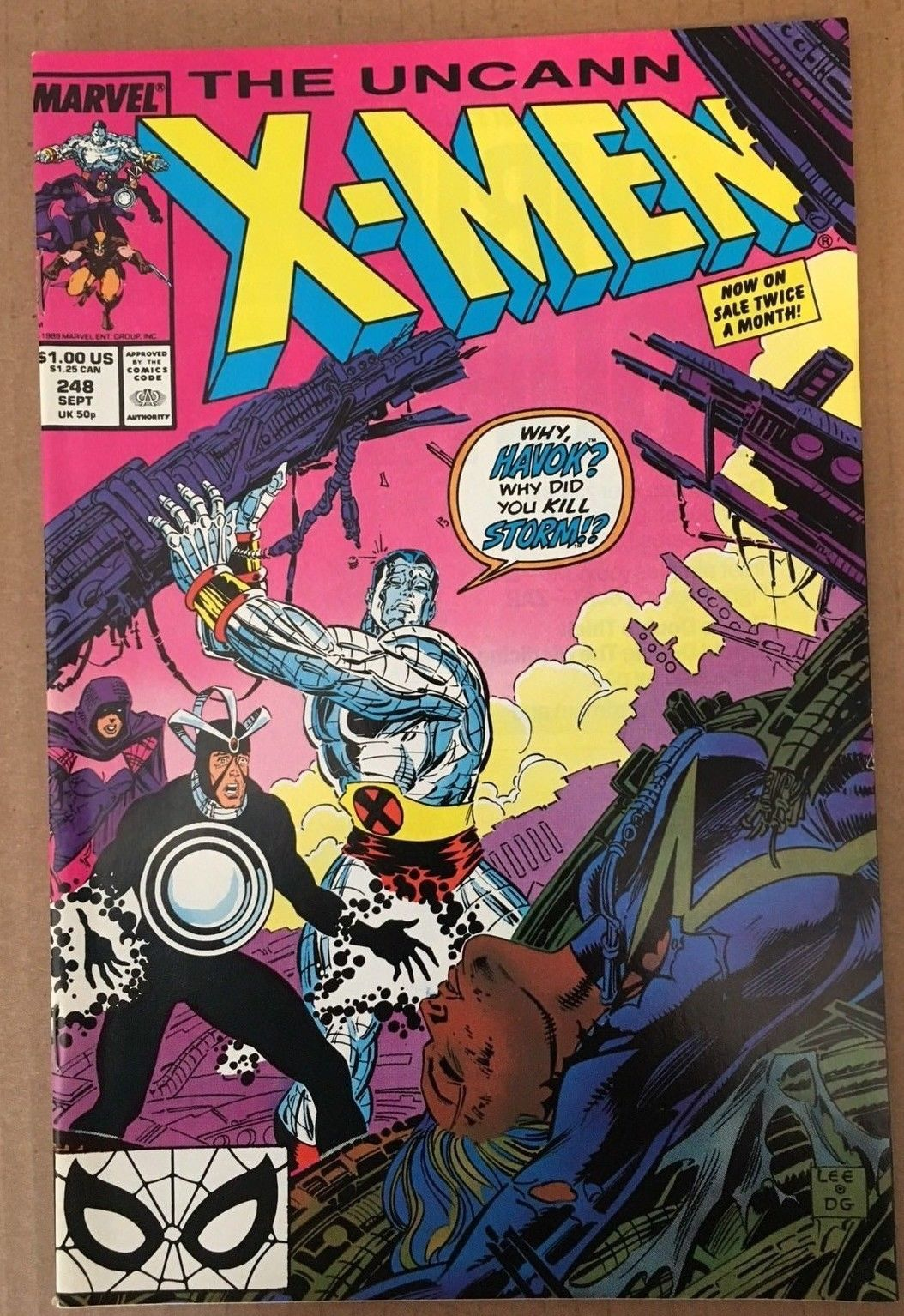 Uncanny X-Men #248 1989 NM Condition Marvel Comic Book 1ST Jim Lee / Havok
