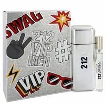 212 Vip by Carolina Herrera Gift Set EDT Spray + Mini EDT Cologne Spray ... - $72.15