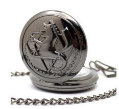 Black Metal Fulmetal Alchemist Steampunk Pocket Watch  - £9.13 GBP