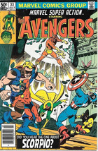 Marvel Super Action Comic Book #33 The Avengers 1981 Very FINE/NEAR Mint - $5.94