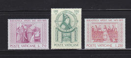 1975 Vatican Library Set of 3 Postage Stamps Catalog Number 582-84 MNH