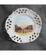 ca 1910 Winfield KS Souvenir Plate, Main Street, Made in Germany for Bra... - $18.69