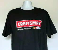 Craftsman Official Tools of Nascar T Shirt Mens XL Black 100% Cotton - $21.73