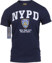 NYPD T-Shirt Official Licensed Navy Blue Athletic Tee New York City Poli... - $17.99+