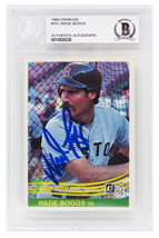 Wade Boggs Signed Boston Red Sox 1984 Donruss Baseball Card #151 - $120.00