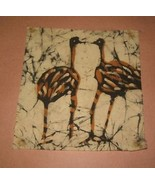 "Ostrich Art on Fabric 12""x12"" - $10.98"