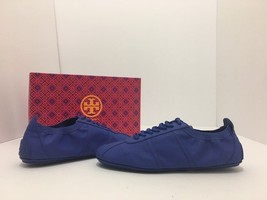 Tory Burch Minnie Travel Sneaker Songbird Blue Flats Lace Up Sneakers Si... - $98.01