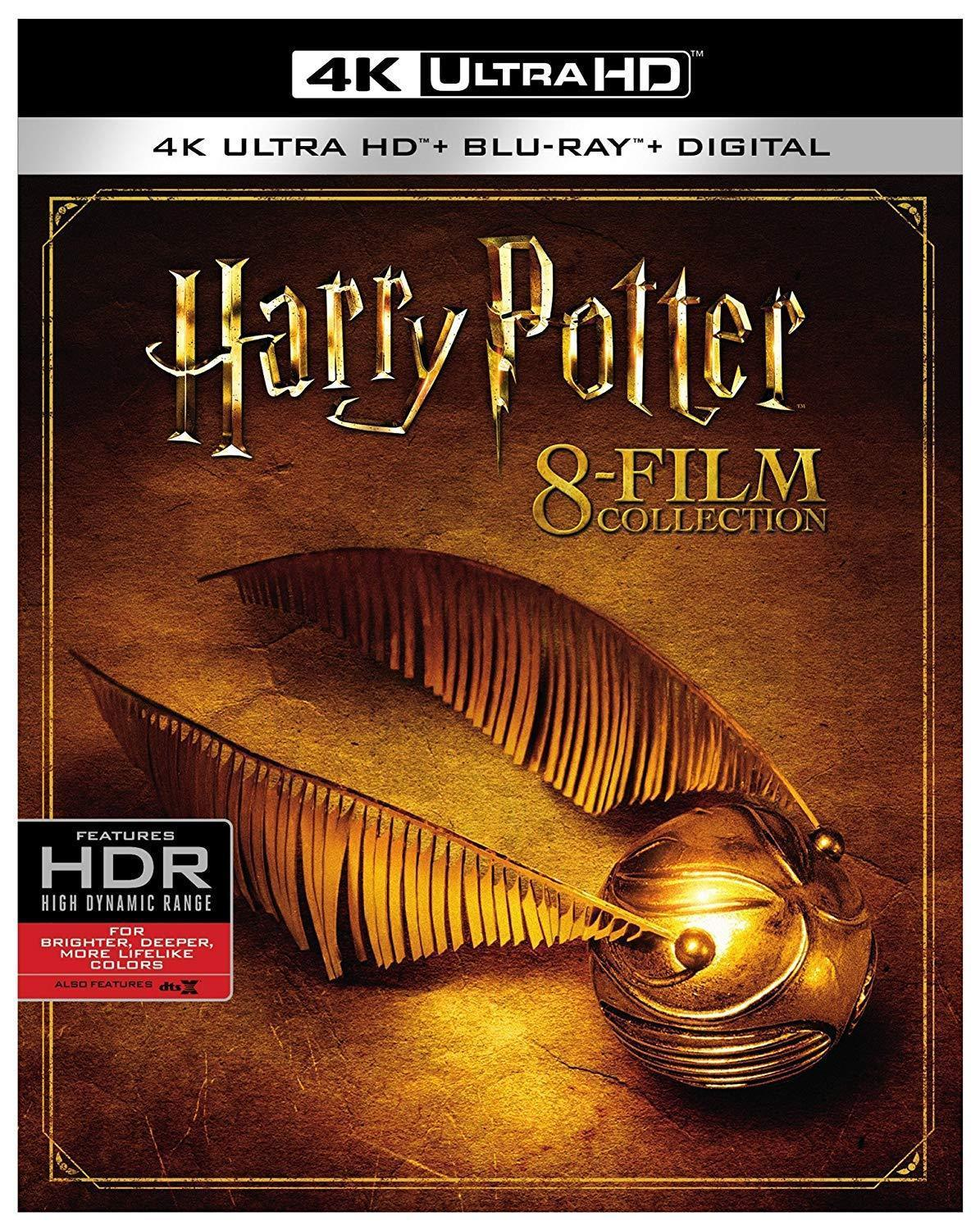 Primary image for NEW Harry Potter Complete 8-Film Collection 4K Ultra HD Digital Code Blu-ray
