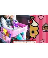 CHILD TRAVEL TRAY CAR SEAT PORTABLE ACTIVITY EATING PLAYING KAWAII CUPCA... - $3.91