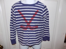 J. Crew Crewcuts Striped Long Sleeve Hockey Sticks Shirt Size 3 Boy'S EUC - $17.80