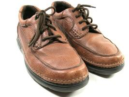 Nunn Bush Comfort Gel Mens Brown Pebbled Leather Apron Toe Oxfords Size ... - $38.61