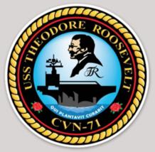 USS Theodore Roosevelt CVN-71 sticker - $9.89