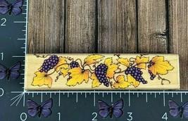 Hero Arts Grapevine Border Fruit Rubber Stamp 1995 F378 Wood #X124 - $4.70