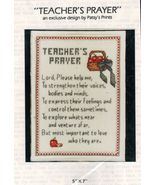 1990 Happy Things Patsy Moore Counted Cross Stitch Teacher's Prayer Kit ... - $15.99
