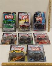 8 Pc Maisto Ultimate Marvel 2002 Peter Parker Fantastic Four Ghost Rider Hulk - $37.03