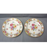 "SCHUMANN Bavaria EMPRESS DRESDEN FLOWERS Salad Plate 7 3/4"" LOT OF 2 - $79.95"