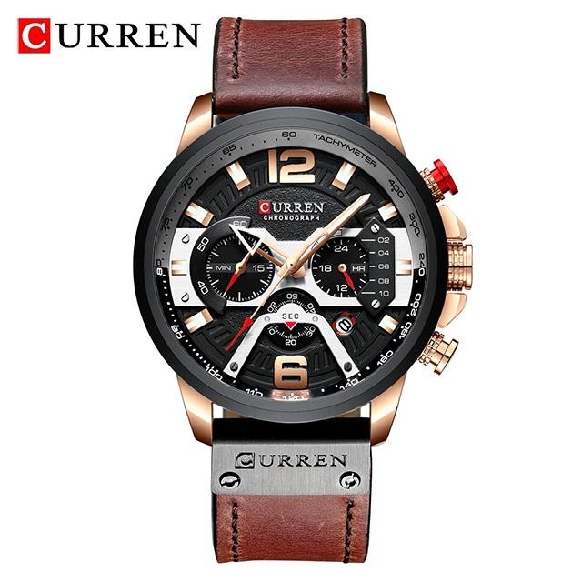 Ry curren chronograph mens watches waterproof sport quartz watch men clock man wristwatch famous