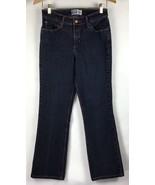 Levis Signature 8 Short Denim Jeans Classic Rise Stretch Bootcut Dark Wa... - $17.87