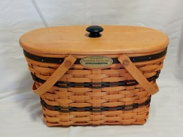 1997 Longaberger Traditions Collection Fellowship Basket with Cloth Gripper - $34.65