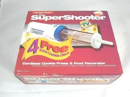 Hamilton Beach Super Shooter Cordless Cookie Press & Food Decorator + 12 discs - $24.99