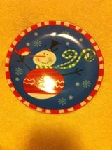 BOSTON WAREHOUSE--SNOWMAN PLATE----CHRISTMAS--FREE SHIP-VGC - $15.36