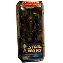 "Star Wars Attack Of The Clones 12"" Super Battle Droid Hasbro, MIB - $38.98"