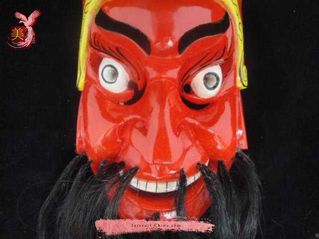 Chinese Home Wall Décor Ritual Dance Mask 100% Wood Craft Folk Art #111 Pro