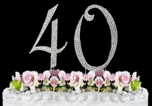 40th Birthday Cake Toppers Bling And 27 Similar Items 12