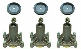 """(3) Spindle Assembly 187292 w/ Pulley 153532 - 42"""" 48"""" Deck Husqvarna 53... - $76.95"""