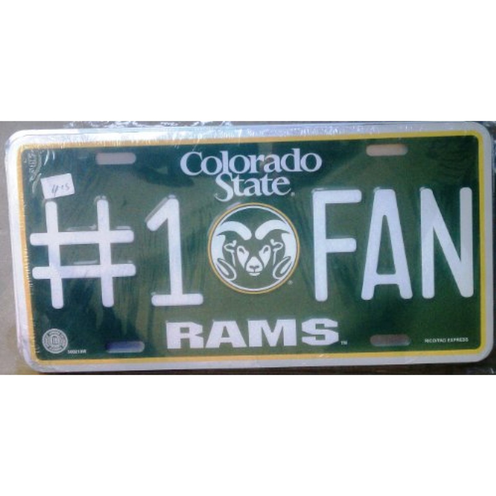 NCAA Colorado State Rams #1 Fan Metal Tag License Plate