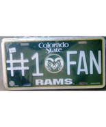 NCAA Colorado State Rams #1 Fan Metal Tag License Plate - $7.98