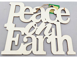"""Greenbrier """"Peace on Earth"""" Wood Sign #296663"""