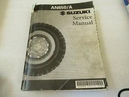 Suzuki 2004 AN650/A Service Manual P/N 99500-36114-03E - $21.29