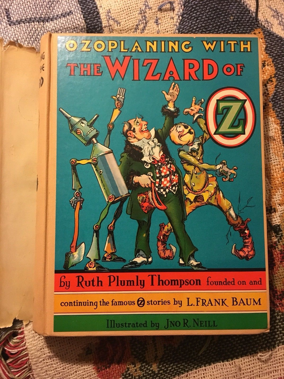 Ruth Plumly Thompson - Ozoplaning With the Wizard of Oz 1939 1st In dust jacket